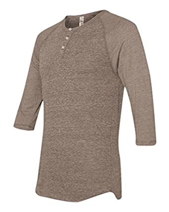 Alternative AA1938 Unisex 4.4 oz. L-Sleeve Raglan Henley - Eco Brown - XS