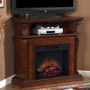 ClassicFlame 23DE1447-C233 Corinth Wall or Corner TV Stand for TVs up to 47