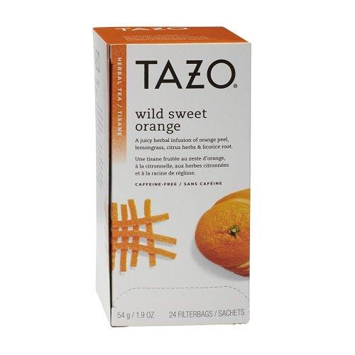 Tazo Wild Sweet Orange Filter Bag Tea, 24-Count Packages (Pack of 6)