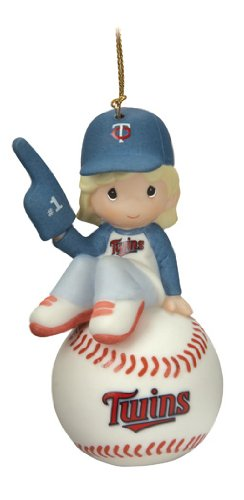 Precious Moments MLB Minnesota Twins Girl on Baseball Ornament