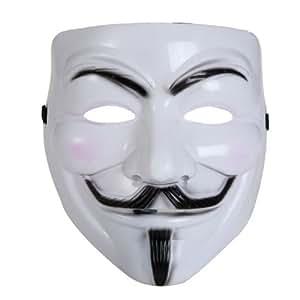 BestOfferBuy V wie Vendetta Maske Halloween Kostum Party Kunststoff Weiß