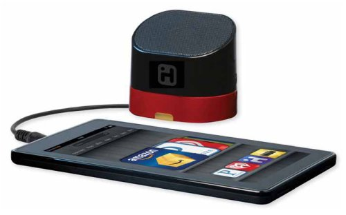 Ihome Rechargeable Portable Mini Speaker With 3.5Mm Headphone/Audio Jack, Black And Red