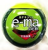 味覚糖 e-maのど飴容器 宇治抹茶 33g×6個