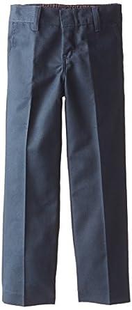 Dickies Little Girls' Flat Front Pant,Dark Navy,4 Slim