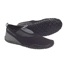 Deep See Men\'s Beach Walker Water Shoe (Silver/Black/Silver, 11)