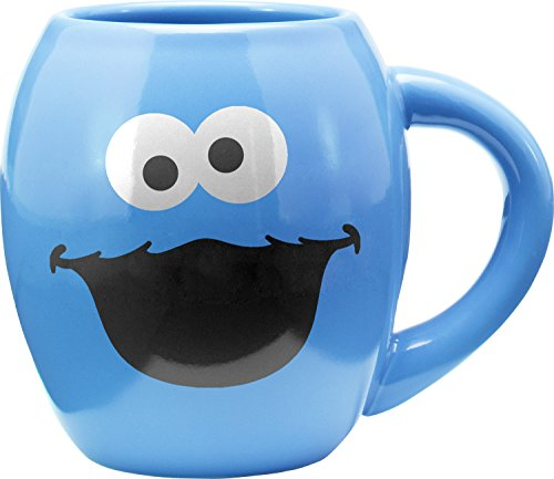 Sesame Street Cookie Monster 18 Oz. Oval Mug