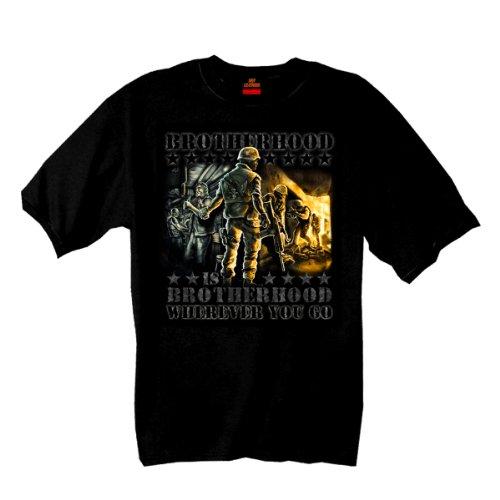 Hot Leathers Brotherhood Is Brotherhood T-Shirt (Black, XX-Large)