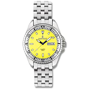 Men's Sartego Ocean Master Watch Yellow Dial