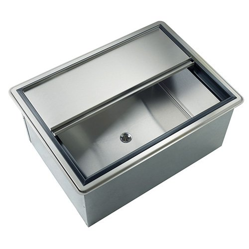 """Krowne Metal D2712-8 Stainless Steel Drop In Ice Bin 12"""" Deep, 87 lb. Ice Capacity, with Cold Plate"""