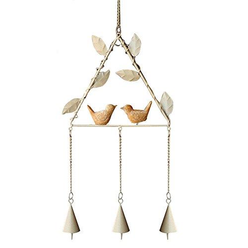 forepin klein windspiel chimes zum aufh ngen glocken deko drinnen f r drau en fenster dreieck. Black Bedroom Furniture Sets. Home Design Ideas