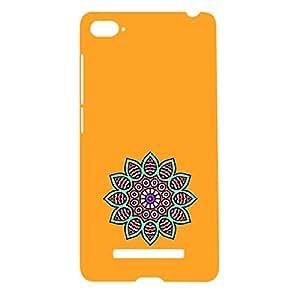 Skin4gadgets Artistically Drawn Mandala Tattoo In Pastel Colors -Orange, No.7 Phone Designer CASE for MI4I