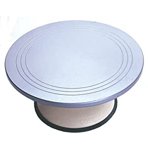 Fat Daddio's Professional Cake Decorating Turntable with Cast Iron Base, 12 Inch x 5.5 Inch