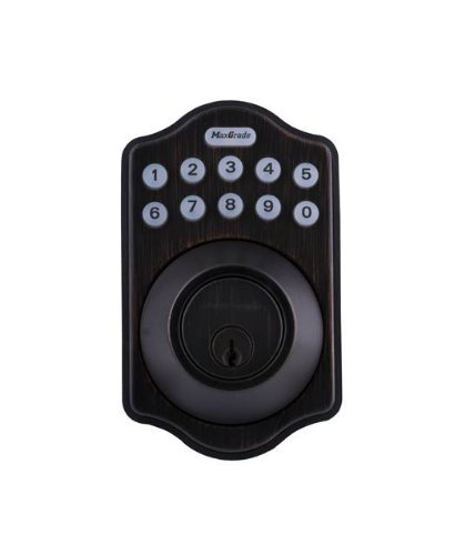 Maxgrade mkpd11h electronic keypad front door entry for Door entry fobs