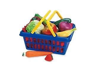 Learning Resources Fruit & Vegetable Play Food Basket, Set of 13