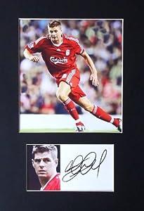 Steven Gerrard Signed Print