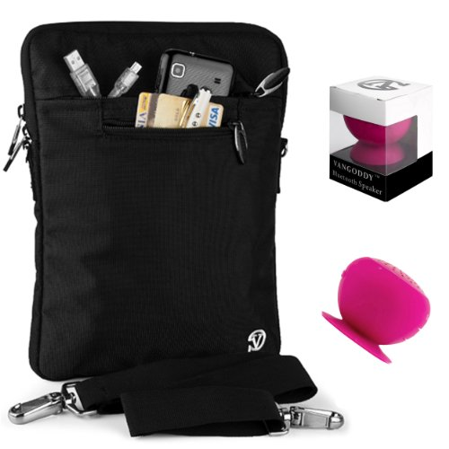 Lightweight Nylon Carrying Case For Samsung Galaxy Note Pro 12.2 + Pink Bluetooth Suction Speaker + Stylus