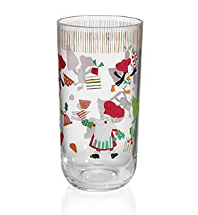 Santas Helper Hi Ball Glass