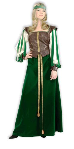 Forum Maid Marion Noble Lady Costume, Green/Gold, Extra Large