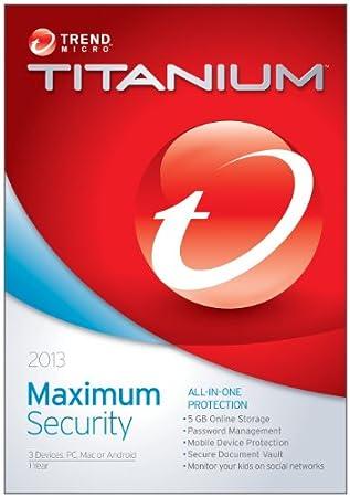 Trend Micro Titanium Maximum Security 2013 3-Users