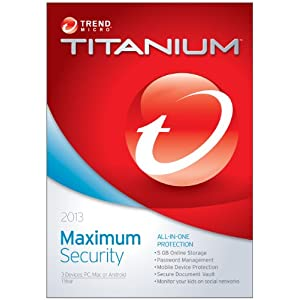 Trend Micro Titanium Maximum Security 2013 3-Users