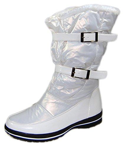 Damen Stiefel Weiß Winter Schuhe Damenstiefel gefüttert Schuh Gr. 39