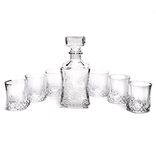 Homestia Classique Crystal Décanteur à Whisky avec 6 Verres