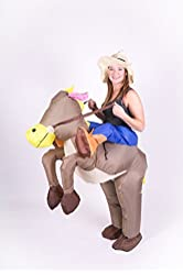 Inflatable Cowboy on Horse Adult Fancy Dress Costume