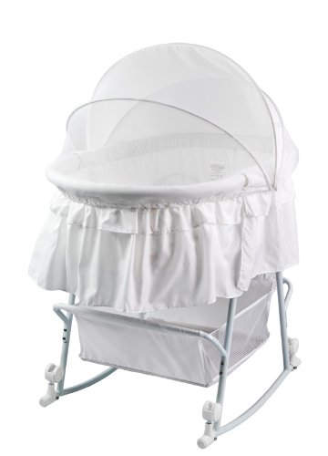 Serenity Dream On Me Lacy Portable 2 in 1 Bassinet and Cradle