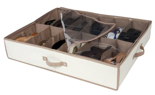 DAZZ Underbed Shoe Organizer, Champagne Collection, Beige