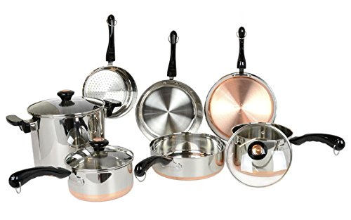 Revere 10 Piece Copper Bottom Cookware Set (Revere Cookware Copper compare prices)