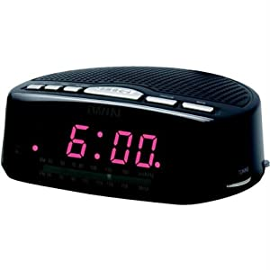 jwin jl207blk digital alarm clock with am fm radio black discontinued by. Black Bedroom Furniture Sets. Home Design Ideas