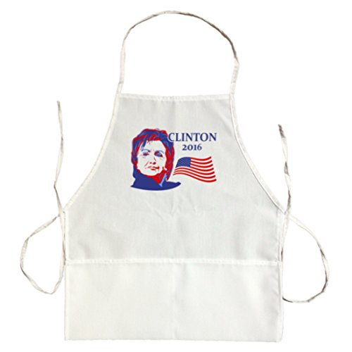 Unisex Hillary Clinton 2016 American President Colors Apron - Durable HQ Bib - White (Divided Houses Clinton compare prices)