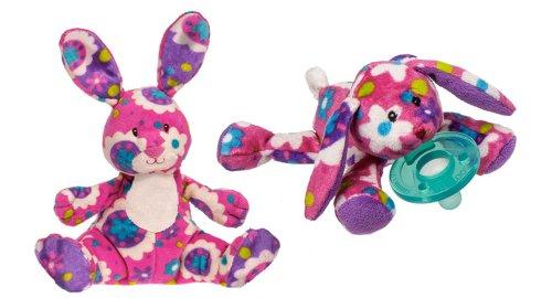 """Mary Meyer Gardenia Bunny Wubbanub & Print Pizzazz Small Gardenia Bunny 6"""" Plush - Pink"""