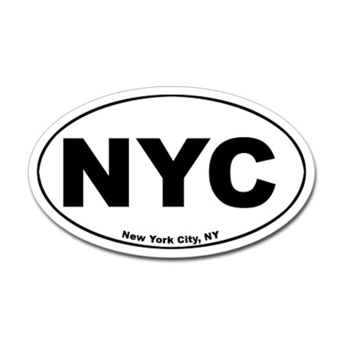 CafePress - New York City (NYC) Oval Sticker - Oval Bumper Sticker, Euro Oval Car Decal (Oval Decal compare prices)