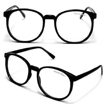WOODY Nerdbrille Grosse Gläser (Schwarz)