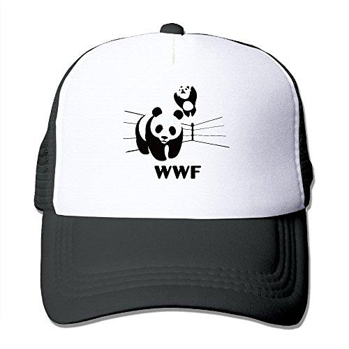 men-women-adjustable-world-wildlife-fund-logo-trucker-cap-youth-mesh-hat-black