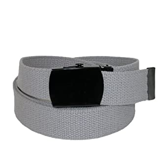 CTM® Unisex Fabric Adjustable Belt with Black Buckle (Available in Big & Tall)