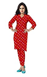 Banjara Women'S Cotton Bandhani Unstitched Dress Material (Rf29_Red_Free Size)