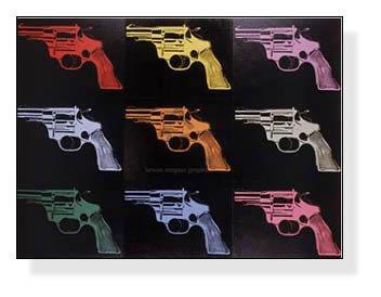 ポスター アンディ ウォーホル Gun c. 1982 (many/rainbow)