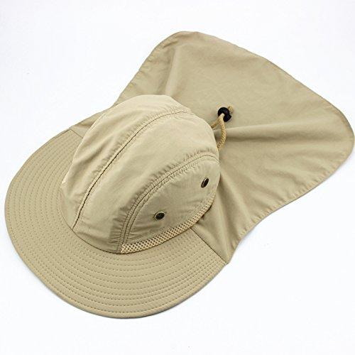 Sommer Sonnenhut Dayan Mao Hut flache Krempe Sonnenhut UV Kappe Falten, die ihr Gesicht (Khaki)