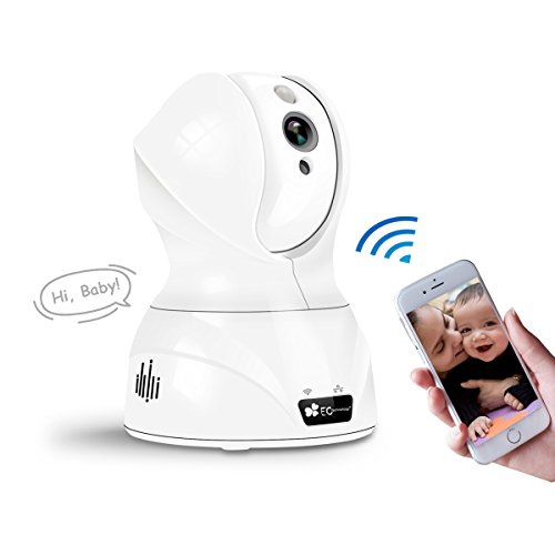 Wireless Security Cameras 720P HD EC Technology Baby Monitor IP Camera Home Security Surveillance With Motion Detection, Two-Way Audio, PIR Night Vision Mode, Alert Information -White