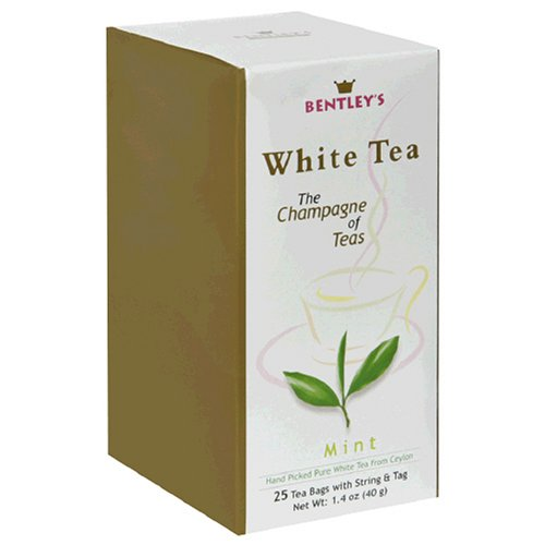 Buy Bentley's Mint White Tea, 25-Count Boxes (Pack of 4) (Bentley's, Health & Personal Care, Products, Food & Snacks, Beverages, Tea, White Teas, Tea Bags)