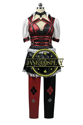 Batman Dark Knight Harley Quinn Arkham Asylum Dress Halloween Cosplay Costume