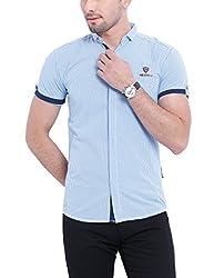 Vintage LT Blue Slim fit Shirts