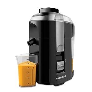 Black & Decker JE2200B 400-Watt Fruit and Vegetable Juice Extractor with Custom Juice Cup, Black