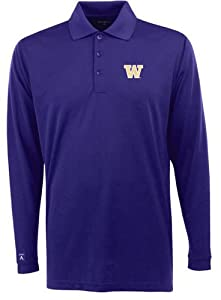 Washington Long Sleeve Polo Shirt (Team Color) by Antigua