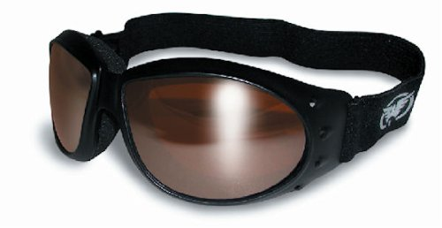 Red Baron Motorcycle / Aviator Goggles Black Padded