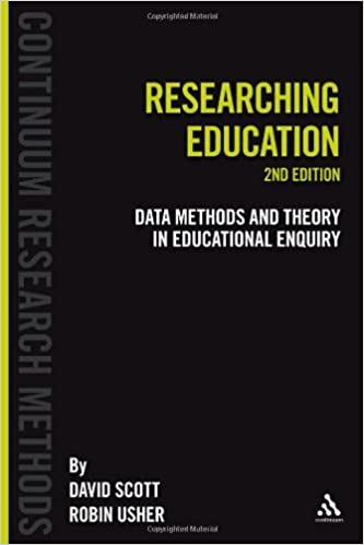Book cover: researching education: data methods and theory in educational enquiry