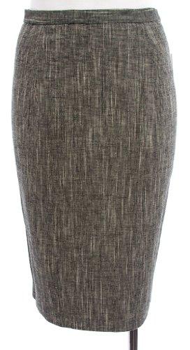Michael Kors Black Tweed Linen/Cotton Pencil Skirt 6 Image