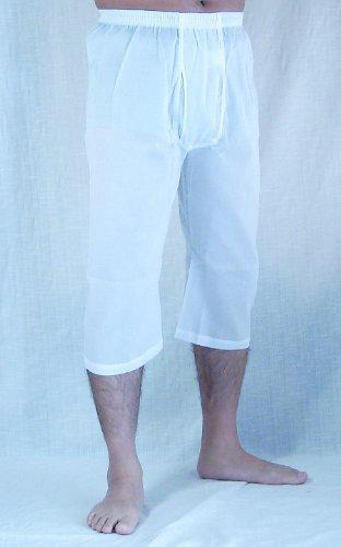 【産直ステテコ】高島綿クレープすててこ(前あき)SG1000 (L, ホワイト)